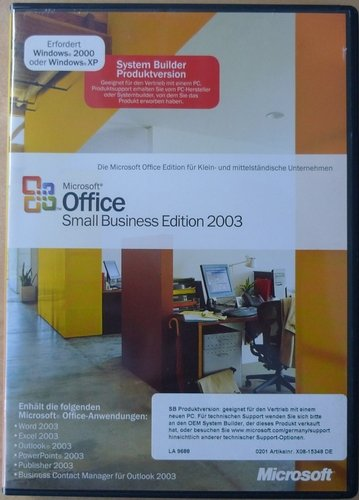 SB/MS Office Small Business Edition2003 + SP2 CD 1pk NON OSB, incl. Word, Excel, Outlook, PowerPoint, Publisher