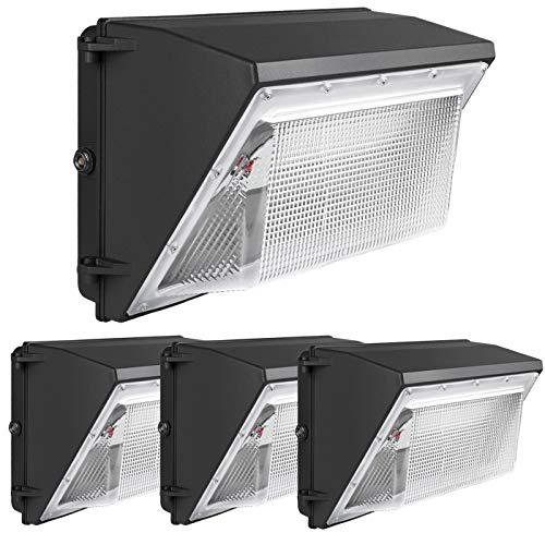 LED Wall Pack Light 120W - 4 Pack 5000K Outdoor led Wall Pack 16200lm 5 Year Warranty