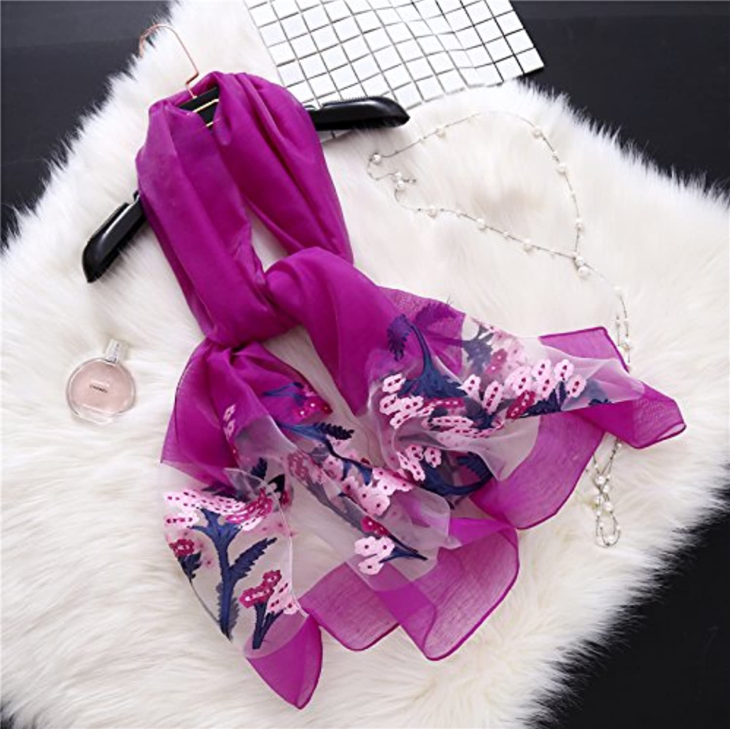 Ahuiopl Hot Designer Brand Women Scarf Spring Summer Silk Shawls Lady Wraps Long Size Elegant Stoles Sunscreen