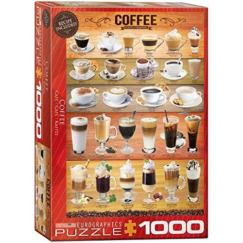 EuroGraphics Coffee 1000pcs Puzzle - Rompecabezas (Puzzle Rompecabezas, Comida y Bebida, Niños y Adultos, 1000 Pieza(s))