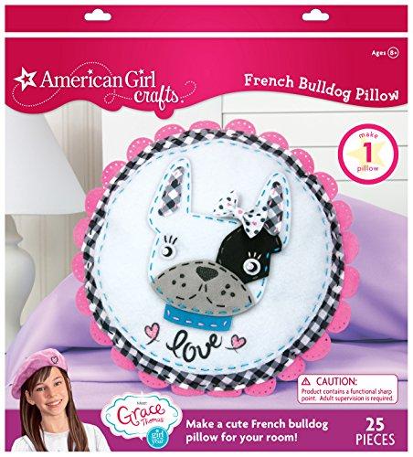 American Girl Crafts French Bulldog Pillow Kit, 2'' x 9.6'' x 10.4''