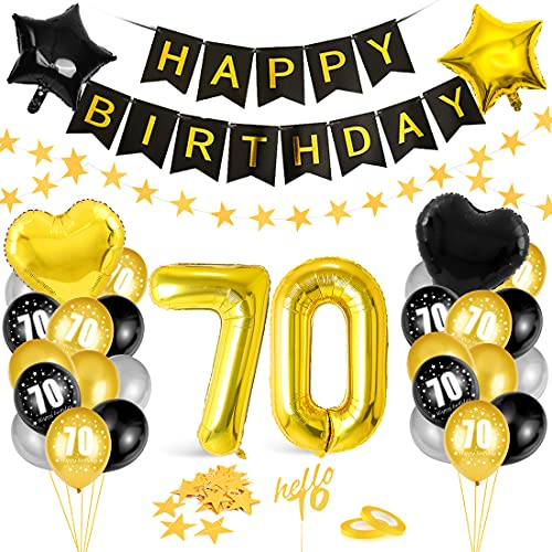 Globos 70 Cumpleaños,Decoración 70 Cumpleaños,Fiesta Cumpleaños 70,Globo de Cumpleaños 70,Globos de Cumpleaños Número 70,Cumpleaños Hombre 70,Kit 70 Cumpleaños Mujeres,Decoraciones Cumpleaños 23 Años