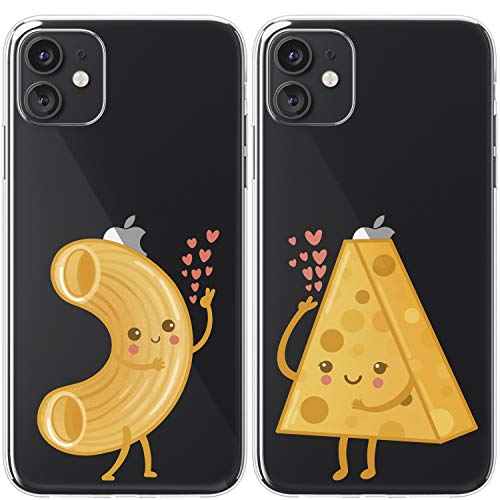 Cavka TPU Couple Cases for Apple iPhone 11 Pro Xs Max X Xr 8 Plus 7 6s SE 5s Earth Sun Best Friends Clear Kawai Gift Matching Funny Bff Soulmate Flexible Silicone Cover Cute Print Planet Girl Sister
