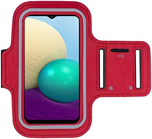 KP TECHNOLOGY Galaxy A02 - Brazalete para Samsung Galaxy A02, color rojo