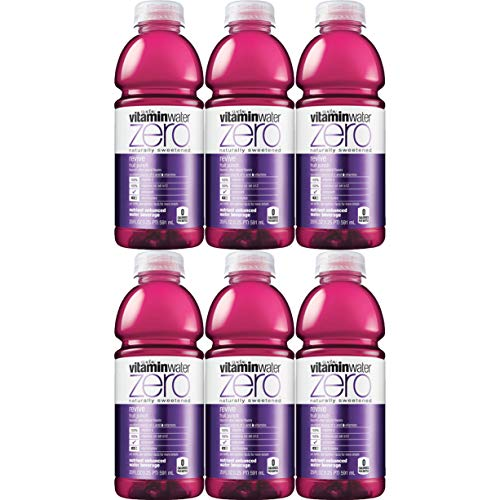 Vitamin Water-Zero, Fruit Punch - Revive, 20oz Bottle (Pack of 6, Total of 120 Oz)