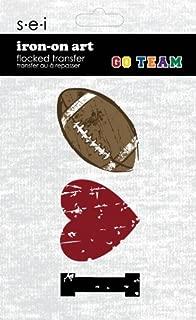 SEI 3.35-Inch by 5-Inch I Heart Football Iron on Transfer, 1 Sheet