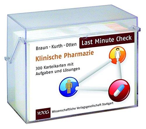 Last Minute Check - Klinische Pharmazie: 300 Karteikarten mit Aufgaben und Lösungen