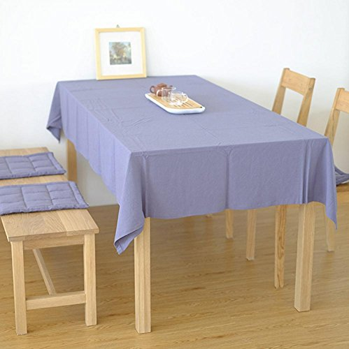 Tafelkleed Katoen en Linnen Ronde Tafelkleed Rechthoekig Home Office Effen Kleur Tafel