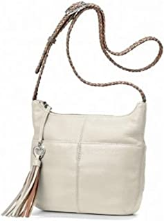 Brighton Bertie Pearl Leather & Braided Strap Crossbody Purse