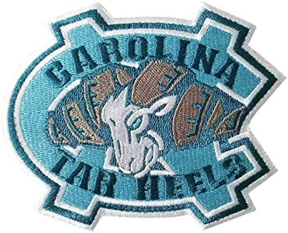Yibuoo North Carolina Tar Heels Embroidered Patch Iron on Logo Vest Jacket Cap Hoodie Backpack product image