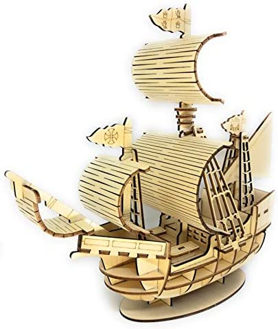 SKOTTY S 3D Laser Cut 3mm Thick Wooden Mechanical Puzzle Boat Gift for Kids Teens and Adults product image