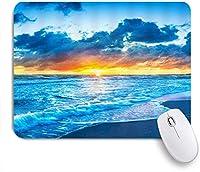 VAMIX マウスパッド 個性的 おしゃれ 柔軟 かわいい ゴム製裏面 ゲーミングマウスパッド PC ノートパソコン オフィス用 デスクマット 滑り止め 耐久性が良い おもしろいパターン (オーシャンシーショアコーストシーウェーブサマーアイランドパシフィックサンライズビーチ)