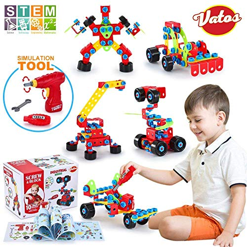 VATOS Building Toys 552 PCS Educational Construction Engineering Toys Blocks Set STEM Learning Toys Kit Creative Fun Toys for Kids Age 6+ Years Old Boys & Girls