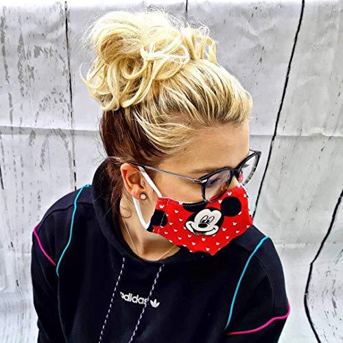 Maske/Mickey/Rot/Gesichtsmaske/Face Mask/Sommer inkl. Versand