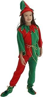 Kids Green Elf Costume, Santa's Helpers Chrismas Outfits Set