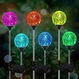 Lampe Solaire Jardin, kit de 6 Paquets de Lumière OxyLED pour Globe Solaire, éclairage de Jardin à LED à Couleurs Changeantes, éclairage Décoratif des Chemins, Allumage et Extinction Automatique