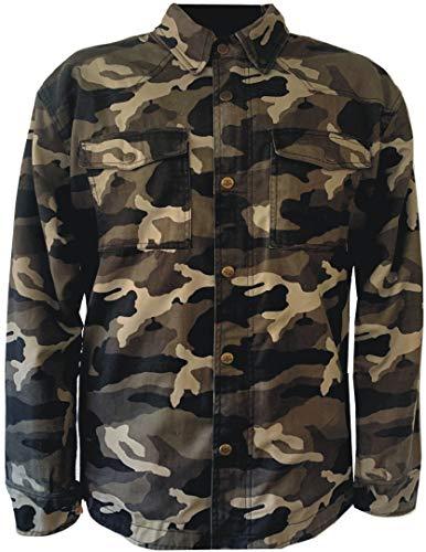 Bores Militaryjack - Camisa de motorista de camuflaje (talla S)
