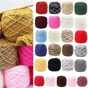 Arts, Crafts & Sewing - 200g 25 Color Soft Cotton Hand Knitting Yarn Smooth Wool Yarn Ball Wool Scarf Baby Clothes - Soft Cotton Knitting Yarn Briefs Crochet Caron Cakes Amigurumi - 1PCs