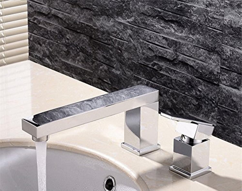 Kokeruup Alle kupfernen europischen Split-Drei-Loch-Badezimmer mit heiem und kaltem Wasserhahn B