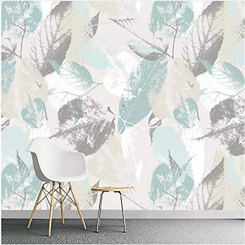 Lovemq 3D Foto Tapetenrolle Nordische Moderne Blätter Blatt Blütenblätter Tv Wohnzimmer Wandvlies Wasserdichte Wandverkleidung Wandbild-290X190Cm