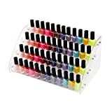 4 Tiers Makeup Holder Tiered Acrylic Organizer for Lipstick Nail Polishes Eye Shadow Toy Collection Dresser Reagent Container Retail E ssential Oils Liquids Paint Oil Bottle Display Rack Stand Station