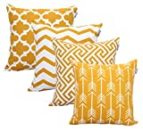 ACCENTHOME Square Printed Cotton Cushion Cover,Throw...