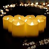 YAOBLUESEA 9er LED Kerzen Teelicht Kerze Flammenlose mit Fernbedienung Batterien Kerze LED Kerze mit Timer für Weihnachtsdeko Hochzeit Geburtstags Party Beige