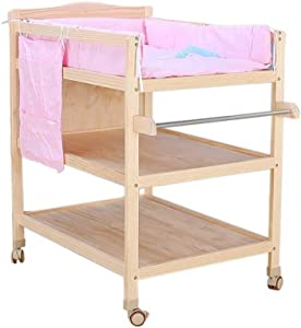 WRHNE Changing Table  Changing Dresser Portable Baby Dresser Station Storage Diapers Table Baby Changing Dresser  Multi Storage Multifunctional Changing Station With Wheels For Easy Mobility  Baby Fur