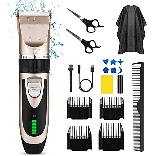 Tondeuse À Cheveux pour Les Hommes, sans Fil Tondeuse, Machine De Découpage Électrique Rechargeable Cheveux avec Affichage LED Et Cinq Réglage De La Vitesse