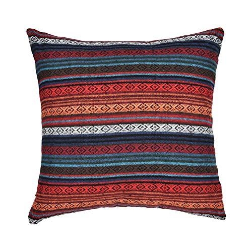 Throw Pillow Cover Funda de Almohada Raya Funda de cojín Funda de Almohada Vintage Estilo étnico Funda de Almohada 45x45cm
