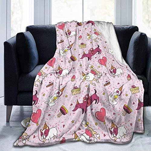 July Verjaardagsfeest voor honden Ultra Soft flanel fleece het hele jaar door lichte woonkamer/slaapkamer warme deken