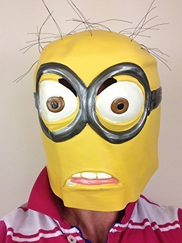 Rubber Johnnies TM Masque en Latex de Minion pour Adulte Moi, Moche et méchant Minions Masque pour Halloween