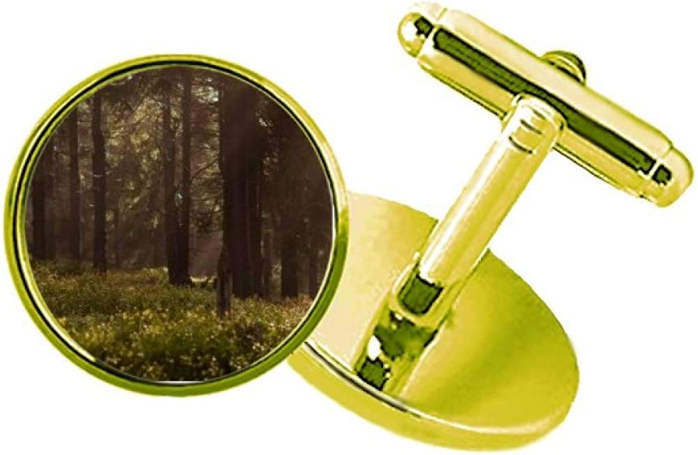 Limited price Dark Forestry Science Nature Scenery Metal Studded Direct sale of manufacturer Cuff Business