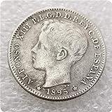 MEETCUER Copy 1895 Puerto RICO 20 CENTAVOS Cent Coin-Antique Silver Dollar Morgan Coin Collection US Silver Coin Replica 11 MaybeCoin A