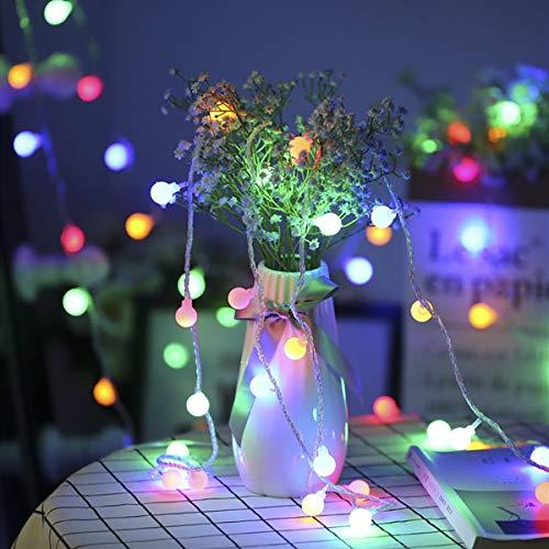 Lepro 100er LED Kugel Lichterkette Bunt 13M, Partybeleuchtung Außen mit Stecker, 8 Modi und Merk Funktion, ideale Partylichterkette für Innen, Hochzeit, Party Deko usw. Mehrfarbig - 3