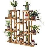 Supporto per Vaso di Fiori Impianto di Legno Stand Coperta pianta ripiano 11 Tiered Flower Pot Supporto del Basamento Ripiani Multi Tier Rack Display Porta Erbe per Giardiniere