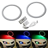 iJDMTOY RGB Multi-Color LED Angel Eyes Halo Rings...