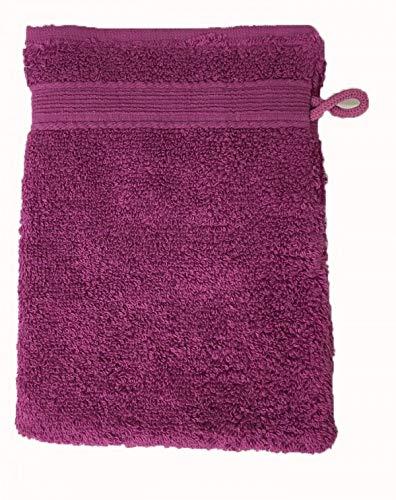 Alpes Blanc Lot de 10 Gants de Toilette Éponge 600gr/m² Coton - 20x15cm - Gants de Toilette - Violet/Purple