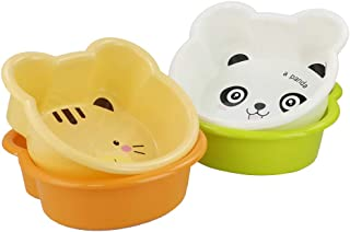 Kiddream Set of 4 Colored Small Basin Plastic Wash Bin Wash Pan