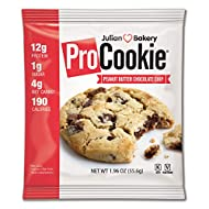 Julian Bakery ProCookie | Peanut Butter Chocolate Chip | 12g Protein | 4g Net Carbs | Gluten-Free | Grain-Free | 8 Cookies