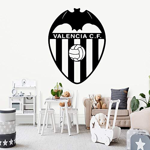 zqyjhkou Classic Valencia CF Fútbol Vinilo Pegatinas de Pared Decoración Wallpaper para la Sala de Estar Mural Habitación de los niños Decoración Dormitorio Decoración L 43 cm X 56 cm