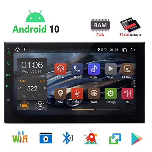 EinCar Android 7.1 Auto-Stereo 2GB 32GB Autoradio Multimedia-Player mit GPS-Navigation 7/¡/± Touch Screen Bluetooth WIFI 3G 4G DAB OBD Subwoofer Fastboot USB MicroSD 2 Din Universal
