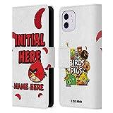 Head Hülle Designs Offiziell Zugelassen Personalisierte Persönliche Angry Bird Rote Feder Kunst Leder Brieftaschen Handyhülle Hülle Huelle kompatibel mit Apple iPhone 11