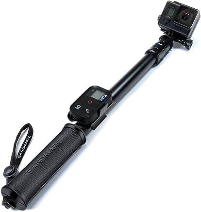 Essentialz BM-104-BTooth Selfie-Stick Monopod mit integriertem Fernausl/öser-Knopf Bluetooth f/ür Smartphone Apple iPhone