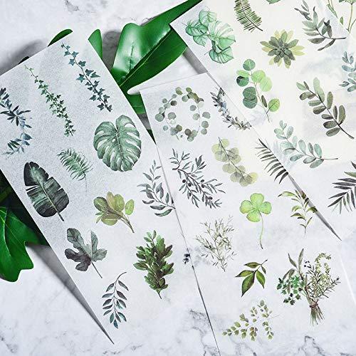 BLOUR Niedliche Pflanzenaufkleber Kawaii Food Stationery Aufkleber Papierkleber Aufkleber für Kid DIY Scrapbooking Tagebuch Alben liefert 3sheets