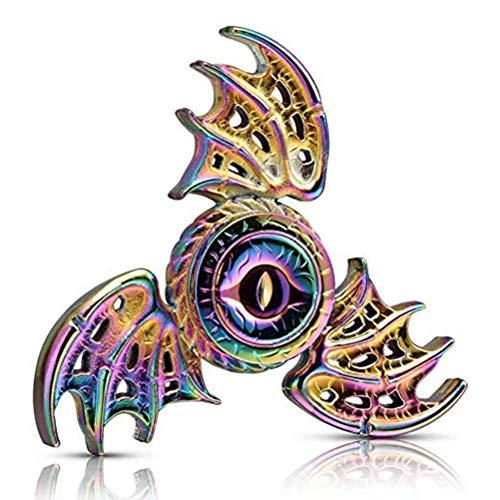 BST&BAO Spinner de Mano antiestrés con alas de dragón, Enfoque metálico, Acero Inoxidable, yema del Dedo, giroscopio, Alivio del estrés, Espiral, TDAH, EDC, Juguete para Fiestas, Regalo de cumpleaños