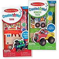 2-Pack Melissa & Doug Paint & Decorate Your Own Wooden Vehicles Craft Kit