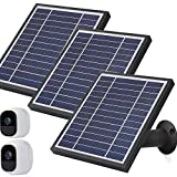 iTODOS Solar Panel Works for Arlo Pro and Arlo Pro2 Camera,11.8feet Power Cable and Adjustable Mount (3 Pack,Black)