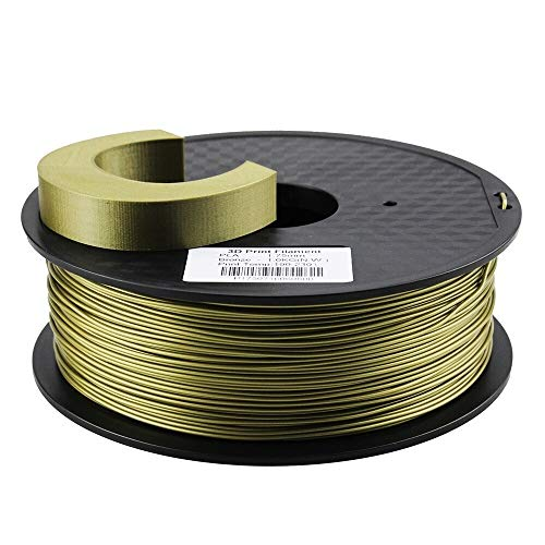 XuBaoFu, 2019 Zonestar Shipping From Russia 3D printer filament PLA 1.75mm plastic Consumables Material 28 Colors 1KG/Roll (Color : Bronze)