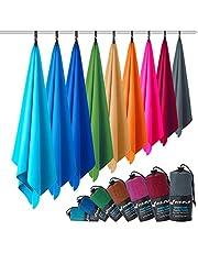 Microvezel handdoeken in ALLE afmetingen/12 kleuren - ultralicht, compact, & sneldrogend - Microvezel handdoek - de perfecte sporthanddoek, strandlaken en reishanddoek